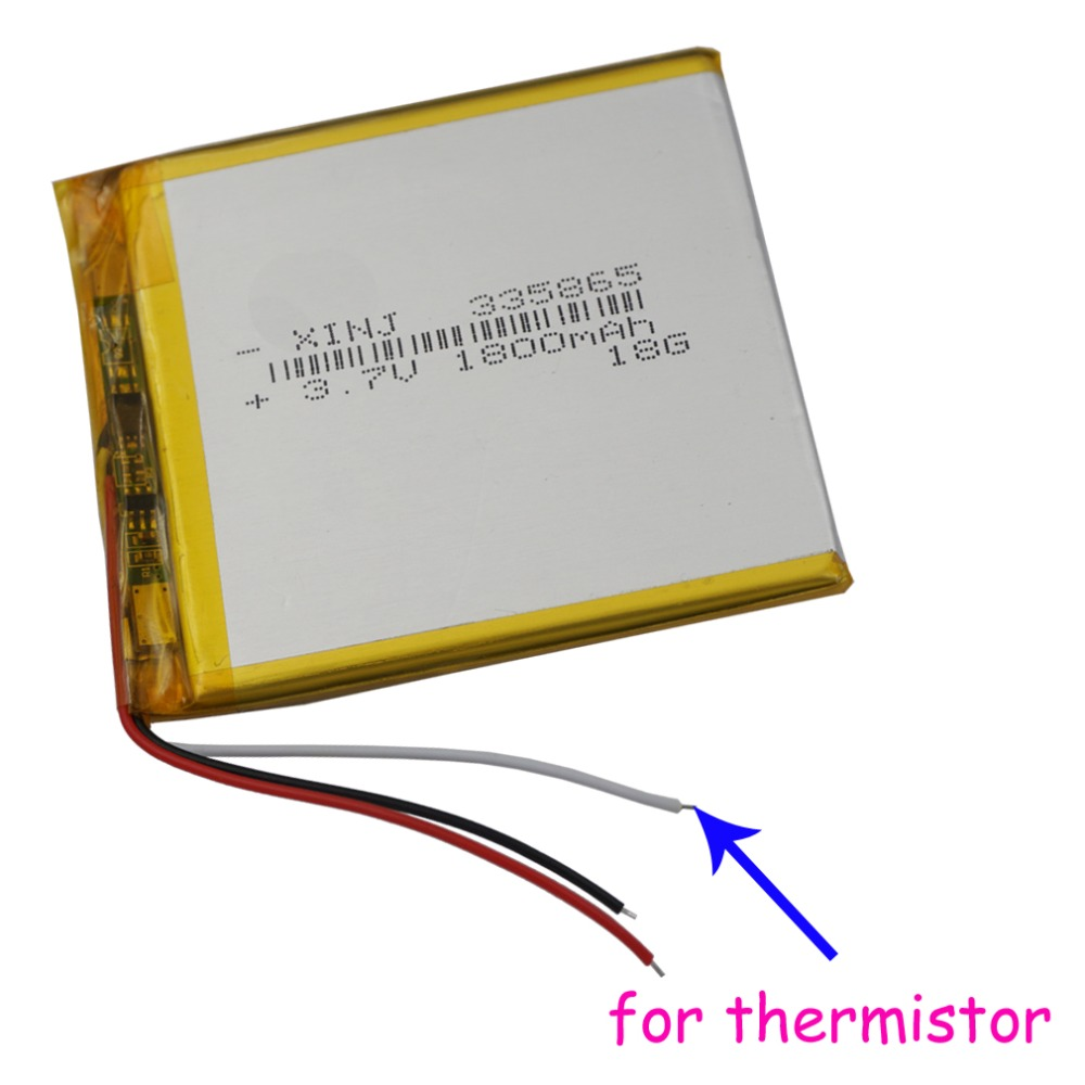 XINJ <font><b>3.7V</b></font> <font><b>1800mAh</b></font> 3wires for thermistor Lithium Polymer <font><b>Battery</b></font> Li ion li-po For phone E-book MID Portable DVD Tablet PC 335865 image