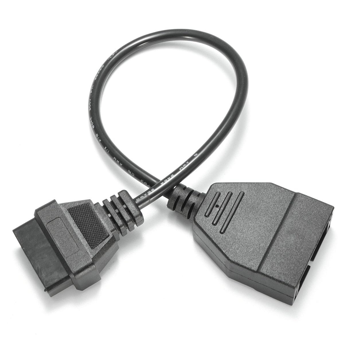 Convertidor adaptador Cable diagnóstico escáner OBD 12 Pin OBD1 a 16 Pin OBD2 convertidor adaptador Cable diagnóstico escáner Coche Mini portátil ELM327 V2.1 OBD2 II Bluetooth diagnóstico coche Auto interfaz escáner azul Premium ABS herramienta de diagnóstico