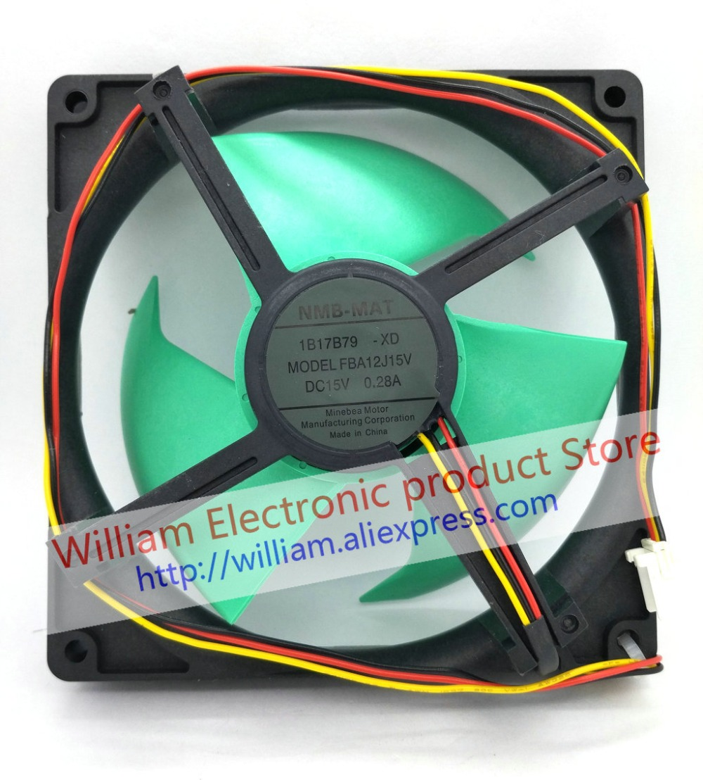 New Original NMB DC15V 0.28A FBA12J15V for refrigerator cooling fan new original nmb 4715sl 05w b60 dc24v 1 2a 12038 inverter waterproof cooling fan