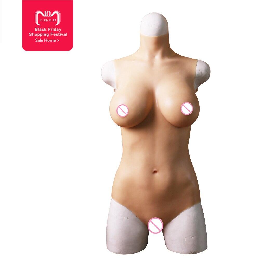 C tazza di silicone liquido di riempimento tuta per Crossdresser Vagina penetrazione forma del seno Realistico falso tette trans vero e proprio figa