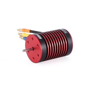 Image 4 - GTSKYTENRC Su Geçirmez Set 3670 2050KV 2650KV 2850KV Fırçasız motor w/radyatör 120A Fırçasız ESC 1/10 1 /8 RC araba