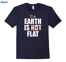 100% Cotton O-neck printed T-shirt The Earth is flat tshirt fun flat Earthers shirt(China)