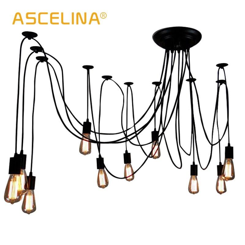 Günstige Kaufen Spinne Anhänger Licht Retro Lampe Nordic Decke LED ...