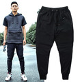 Fashion Biker Joggers  Slim Fit Skinny Sweatpants Harem Pants Man Hip Hop Swag Clothes Clothing Men Gray Black Pants
