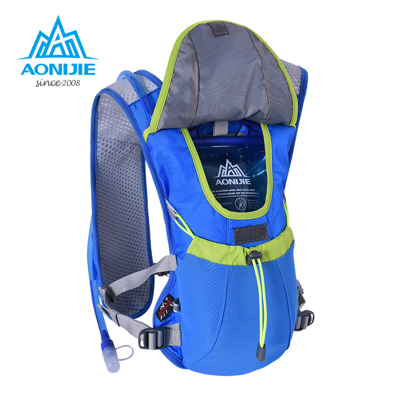 6c4acc1a41 US $27.8 30% OFF|AONIJIE Men Women Lightweight Trail Running Backpack  Outdoor Sports Hiking Marathon Racing Bag Optional 1.5L Hydration Water  Bag-in ...