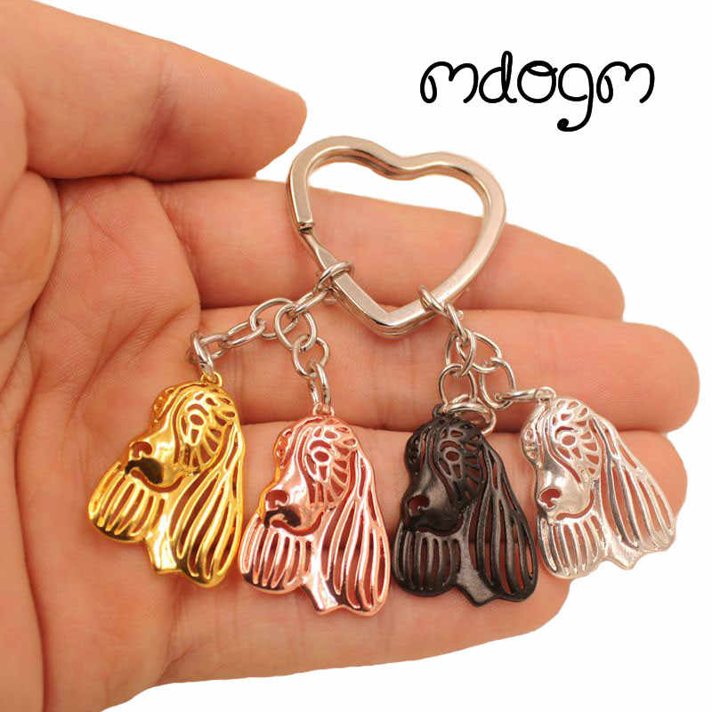 2019 English Springer Spaniel Dog Animal Cute Gold Silver Plated Keychain For Bag Car Women Men Girls Boys Love Jewelry K161