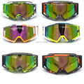 2016 Moda Adulto Motocross Goggles Motocicleta ATV googles Óculos de Lentes Coloridas Quadro Multicolor ski googles capacete off-road