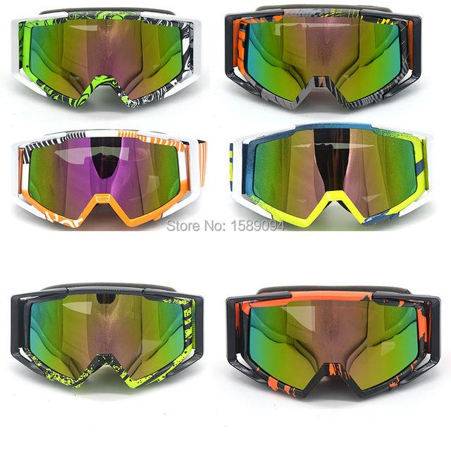 Evomosa Adulte Motocross Moto ATV Off-road Lunettes de soleil de lunettes de snowboard/ski casque de vélos anti UV (Coloré objectif: Multicolore) fb1RapQu