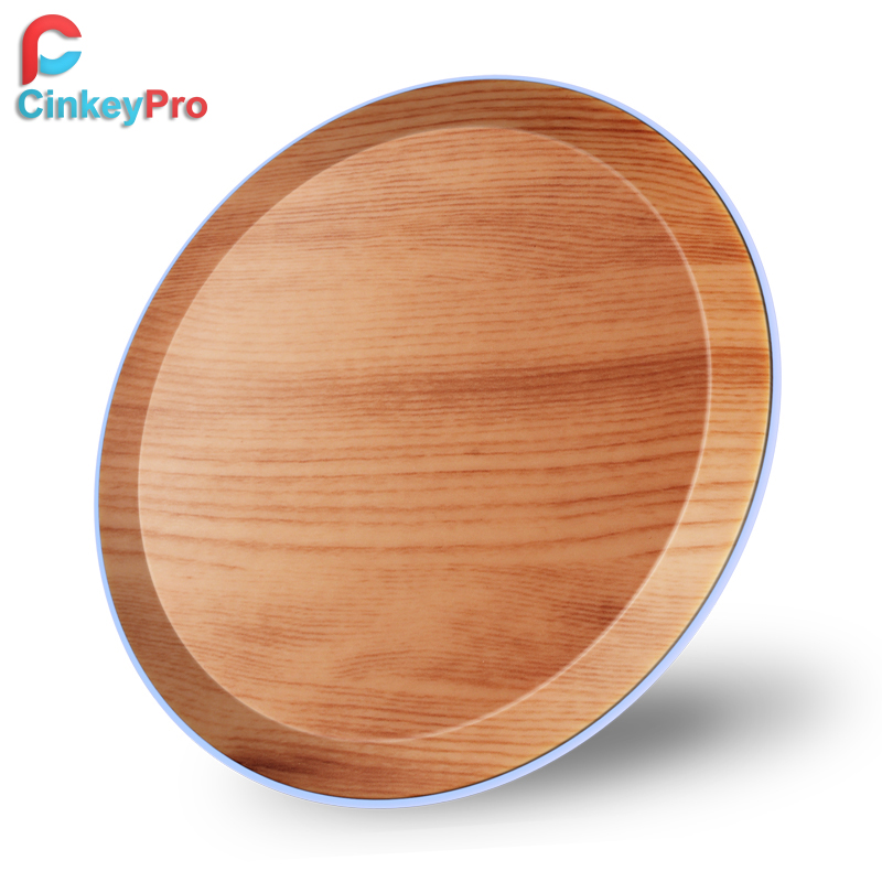 Pad caricabatterie wireless in legno CinkeyPro con luce a LED 5W di ricarica per iPhone 8 X Dispositivo QI USB per telefono cellulare Samsung XiaoMi Charge