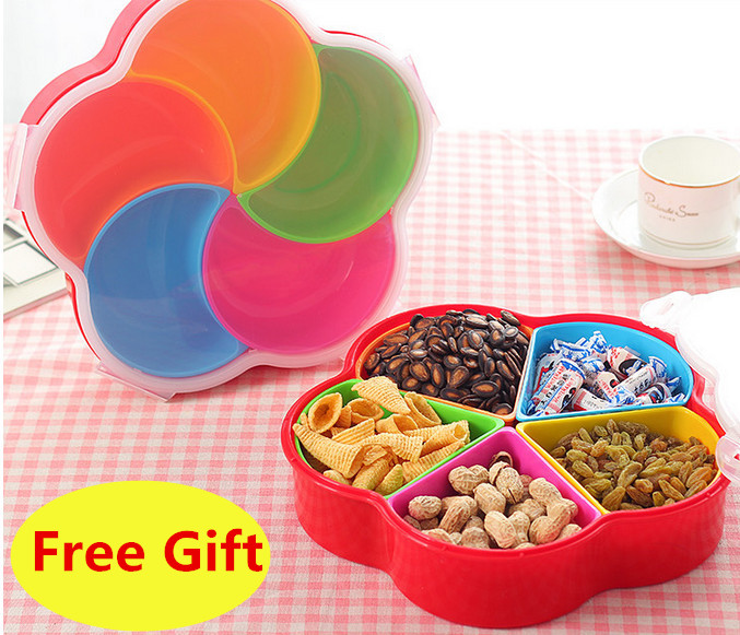 Household Candy Fruit Plate Snacks Dish Container With Lid