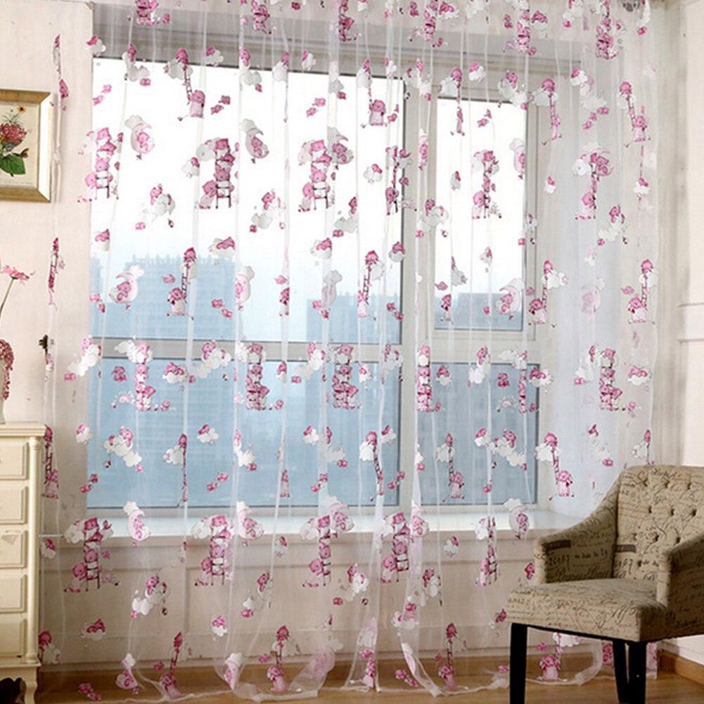 Kid car curtains - Hot Sale 1 2m Kids Car Bear Gel Print Drape Window Curtains Living Room For