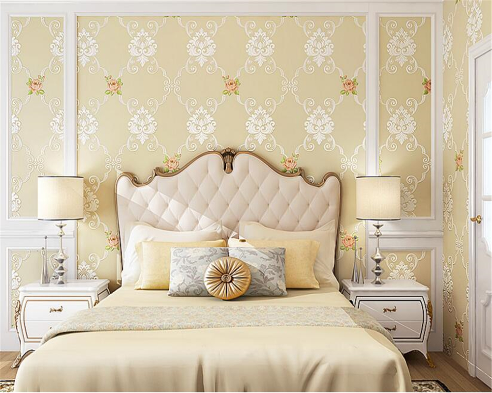 beibehang wall paper European Pastoral Living Room Bedroom 3d Wallpaper Stereo Relief Nonwovens Wallpaper papel de parede tapety beibehang wall paper pastoral cozy living room bedroom wallpaper 3d three dimensional relief european non woven papel de parede