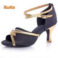 Women Ballroom Latin Modern Dance Shoes Salsa Sandals High Heeled 5 7 Cm Party Wedding Shoes