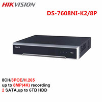 Hikvision 8CH POE NVR DS 7608NI K2 8P H 265 Up 8MP IP Camera Onvif Playback