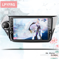 2din Android 9.1 car dvd radio for Kia k2 rio 2010 2011 2012 2013 2014 2015 car gps navigation multimedia player Tape Recorder