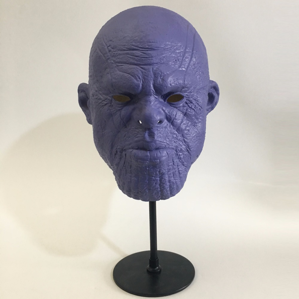 Avengers 3 Infinity War Thanos Mask Cosplay Latex Helmet Superhero Avengers Thanos Masks Halloween Party Props Deluxe2