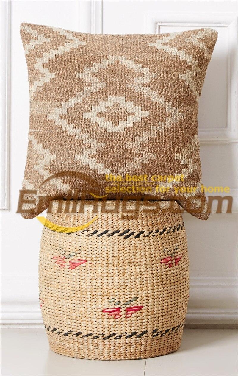 Kilim coussin couverture pastorale style oreiller Postou laine main lignes  moderne en apparence et la durabilité BRIC1Agc131yg4 c43a3738918