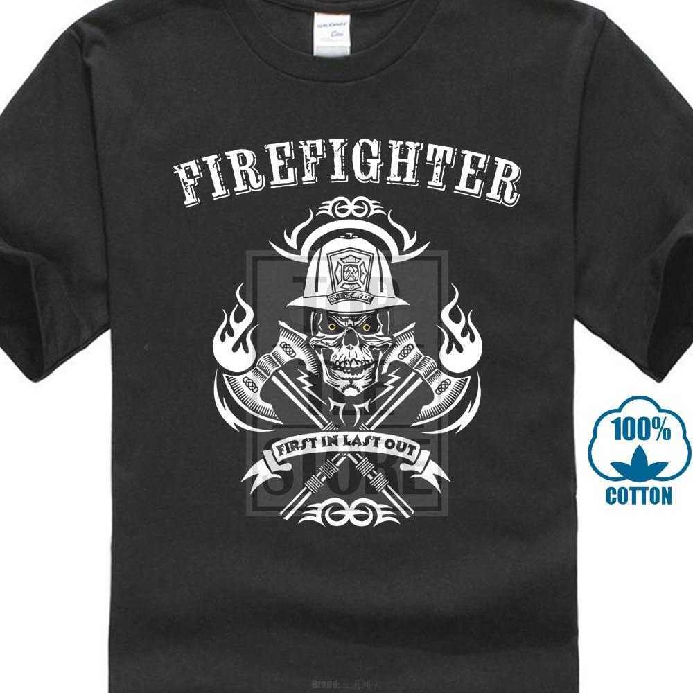 6c06c2cea741 2018 Summer New Men Casual Cotton T Shirt Fireman Fire Fighter Tee Shirt  Gift For Firefighter