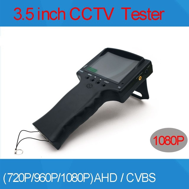 3.5 polegada TFT LCD COLOR MONITOR 1080 P 2MP 2 em 1 vigilância Câmera AHD e Analógico TESTER Com Cabo de Rede Teste Freeshipping