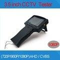 3.5 pulgadas TFT LCD MONITOR en COLOR 1080 P 2MP 2 en 1 AHD Analógica y Cámaras de vigilancia TESTER Con Prueba de Cable de Red Freeshipping