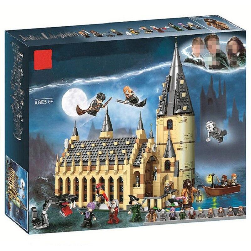 2018 Nouveau Harri Potter Série 938 pcs Poudlard Salle Du Château Modèle Building Blocks Set Briques Jouets Compatible LegoINGlys 75954