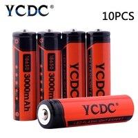 Cheap Batteria 3000mAh 18650 3.7V Li-ion Battery 18650 Rechargeable Battery For Panasonic Flashlight Toy Batteries+Gift Case
