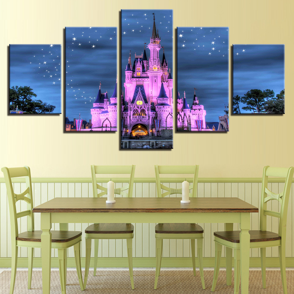 Old Fashioned Princess Castle Wall Art Frieze - Wall Art Collections ...