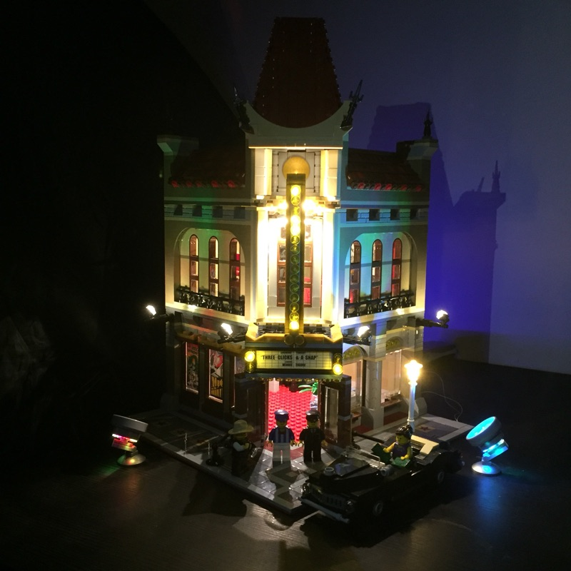 LED light kit (only light included) for lego 10232 Compatible with 15006 Creator Palace Cinema ( bricks set not included) led light up kit only light for lego 10243 and 15010 creator parisian restaurant building bricks set not included