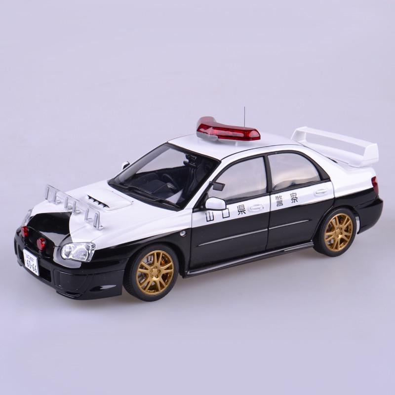 1:18 Diecast Model for Subaru Subaru Impreza WRC STI Japanese Police Car Alloy Toy Car Collection Gifts tamiya car model luxuriously subaru impreza wrc2001 british rally 24250