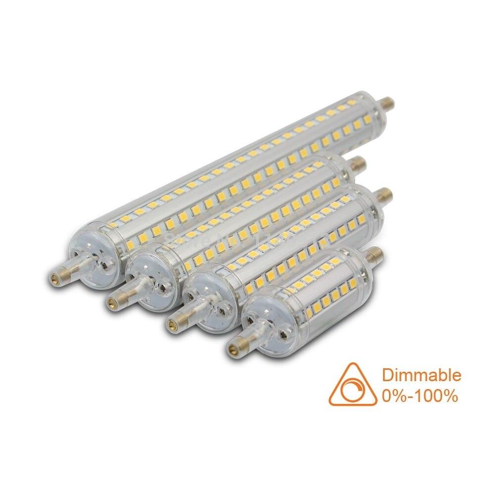 Dimmable 5w 10w 15w 18w smd2835 r7s led lamp 78mm 118mm for Lampadina r7s led 78mm