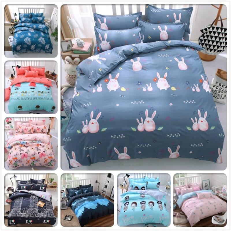 Blue Soft Warm 4pcs 3pcs Bedding Set Full King Queen Twin Double Single Size Bed Sheet 1.5m 1.8m 2.0m 2.2m Duvet Covers Bedlinen