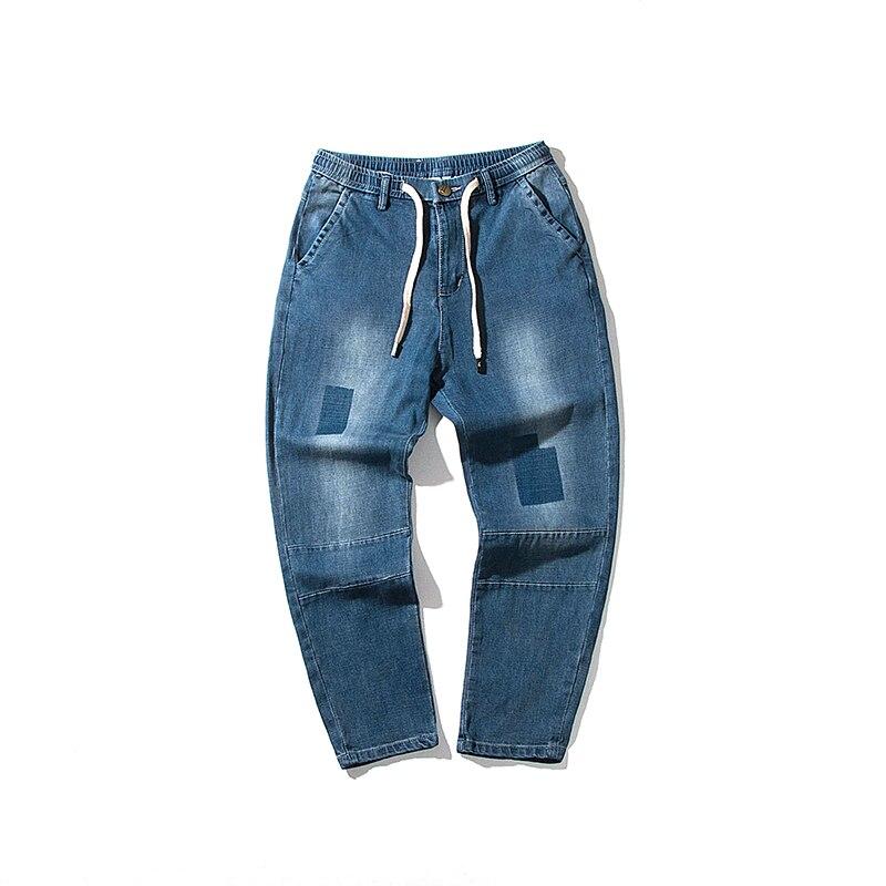 Jeans men 2018 Men Jeans Runway Patchwork Jean Fashion Hiphop Skinny Jeans For Man Hot sale Punk style Lightweight Denim Pants
