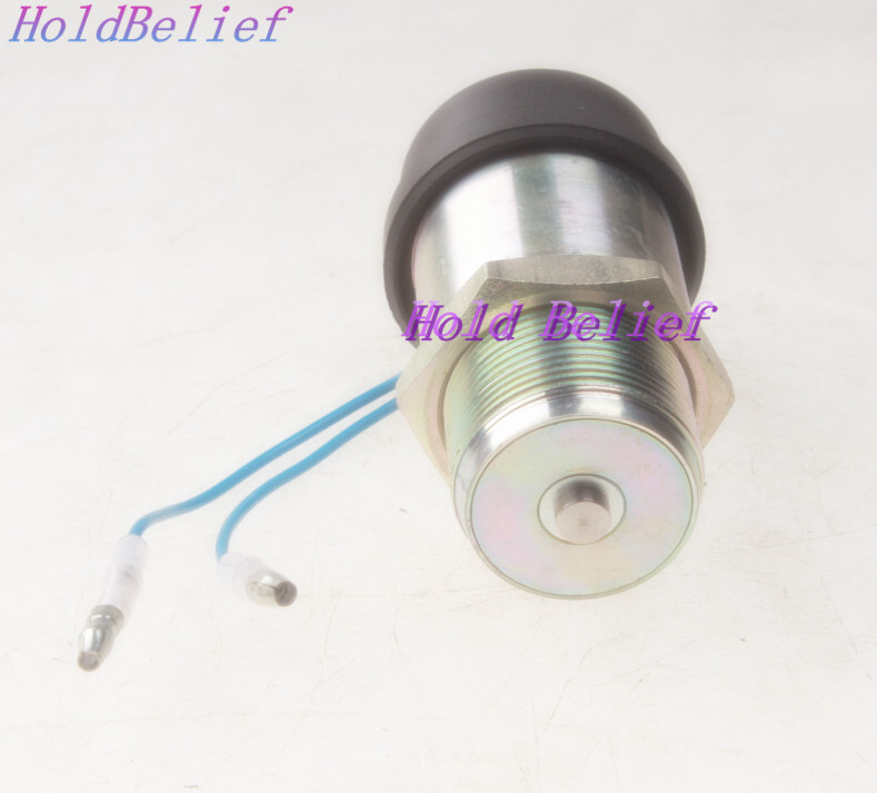 US $90 0 |12V Fuel Shutoff Stop Solenoid Fits For Mitsubishi K3B K3E K4D  S3L S3L2Y1 Engine-in Valves & Parts from Automobiles & Motorcycles on