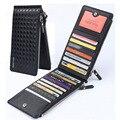Nuevo Diseño Largo de Tejer Moda Portatarjetas de La Cartera Cremallera Doble Embrague bits Multi-tarjeta Monedero de Los Hombres delgada Carteras Monedero de la moneda