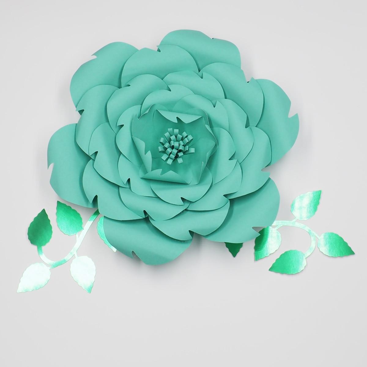 1Piece Flower+2pcs Leaves Giant Paper Flowers Wedding