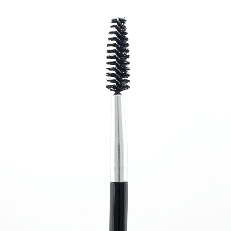 JWEIJIAO Double Head Brush 1 Piece Black Eyelash Eyebrow Make up Beauty Tools Professional Beveled Spiral Brush Drop Shipping in Eye Shadow Applicator from Beauty Health