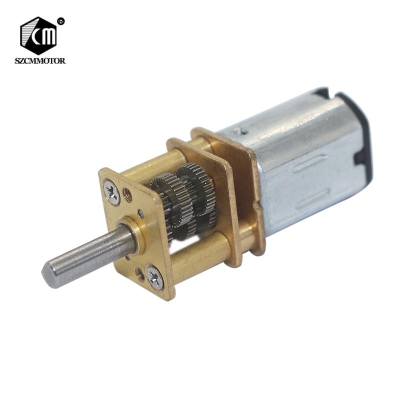 Micro Speed Reduction DC 6V 15RPM To 3000RPM Gearmotor 3mm Shaft Mini Metal Gearwheel Gear Motor N20 Geared Motors