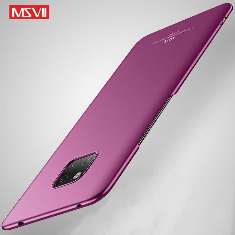Huawei Mate 20 Pro Case Cover Msvii Slim Matte Coque For Huawei Mate20 Lite Case Hard PC Cover For  Huawei Mate 20 X Lite Cases