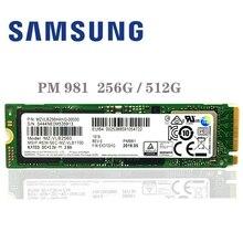 Твердотельный накопитель SAMSUNG M.2 PM981, SSD на 256 Гб, 512 Гб, твердотельный жесткий диск M2, NVMe, PCIe 3.0 x4 NVMe, внутренний жесткий диск для ноутбука TLC PM 981, 1 Тб