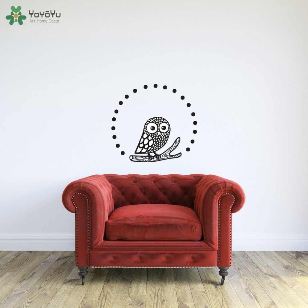 YOYOYU Adesivos de Parede Coruja Para Quartos Dos Miúdos de Animais À Prova D' Água Arte Decoração de Interiores Início Mural Decalque em Parede Removível Bonito Coruja SY495