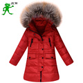 2016 Girl jackets coat long thick warm Children's winter children clothing Outerwear &coats duck down for -30degree kids clothes