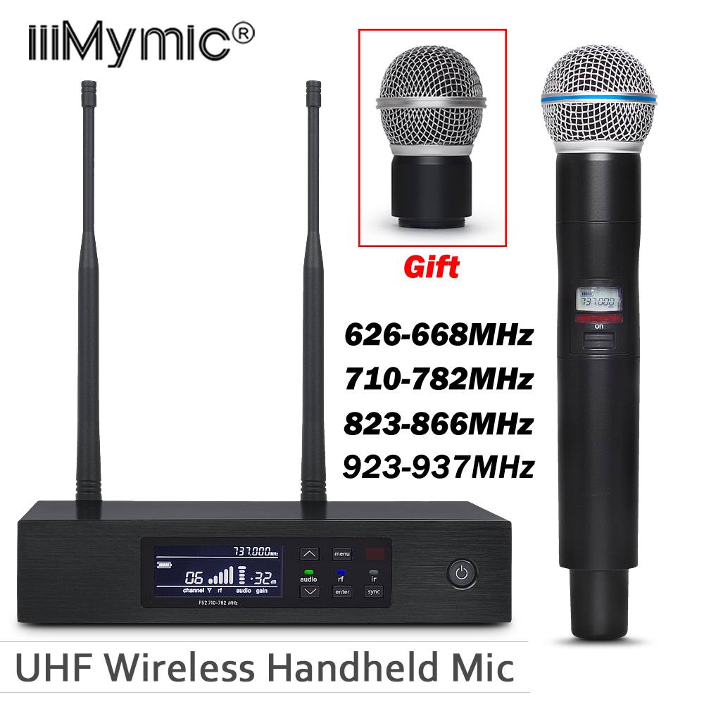 Uhf Draadloze Microfoon Systeem QLXD4!! Professionele Enkele Handheld Microfoon QLXD2 BETA58 Perfect geluid voor Stage-in Microfoons van Consumentenelektronica op  Groep 1