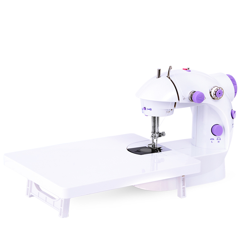 2017 New High Quality Mini Electric Portable Desktop Sewing Machine 6W Hand Held Household Purple Color