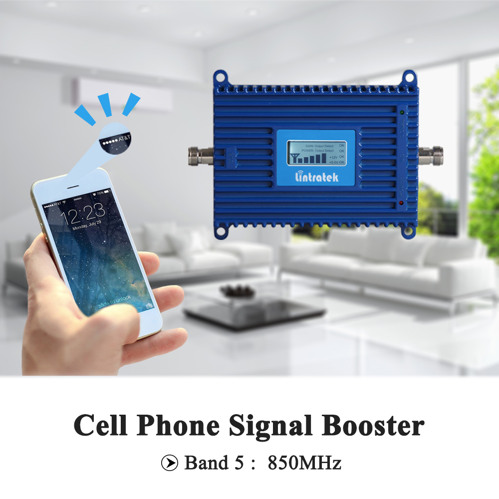 Image 5 - Lintratek New Cell Phone Booster 3G UMTS 850mhz LCD Display CDMA 