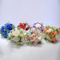 6 Colors Artificial Flowers Rose Silk Bouquet Holding Fake Flowers For Home Wedding Decoration Indoor Outdoor High Quality