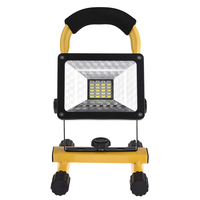 Kaigelin 30W 24LED Outdoor Camping Lights Flood Light Spotlights Construction Site With USB Ports to Charge Work Miner's Lamp