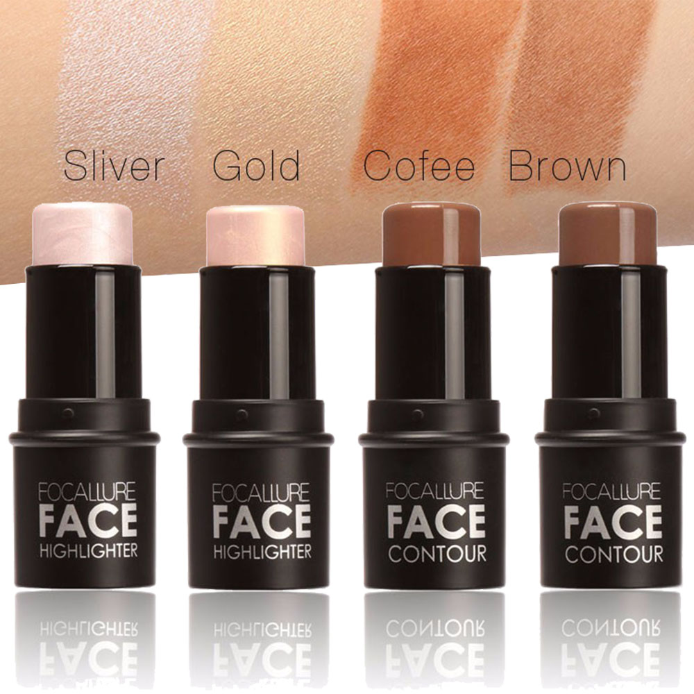 New 4Colors Professional Highlighter Contour Multi Powder Stick Face Eye Foundation Makeup