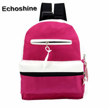 2016 New Women Fashion Simple Satchel Backpack canvas Rucksack backpacks for teenage girls Schoolbag Student Book Bag wholesale