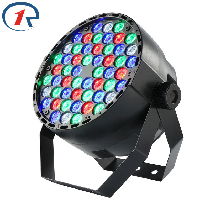 ZjRight 54LED Par light 60W RGBW Fullcolor DMX512 Sound control Christmas decoration Large concert effect lights KTV party lamp