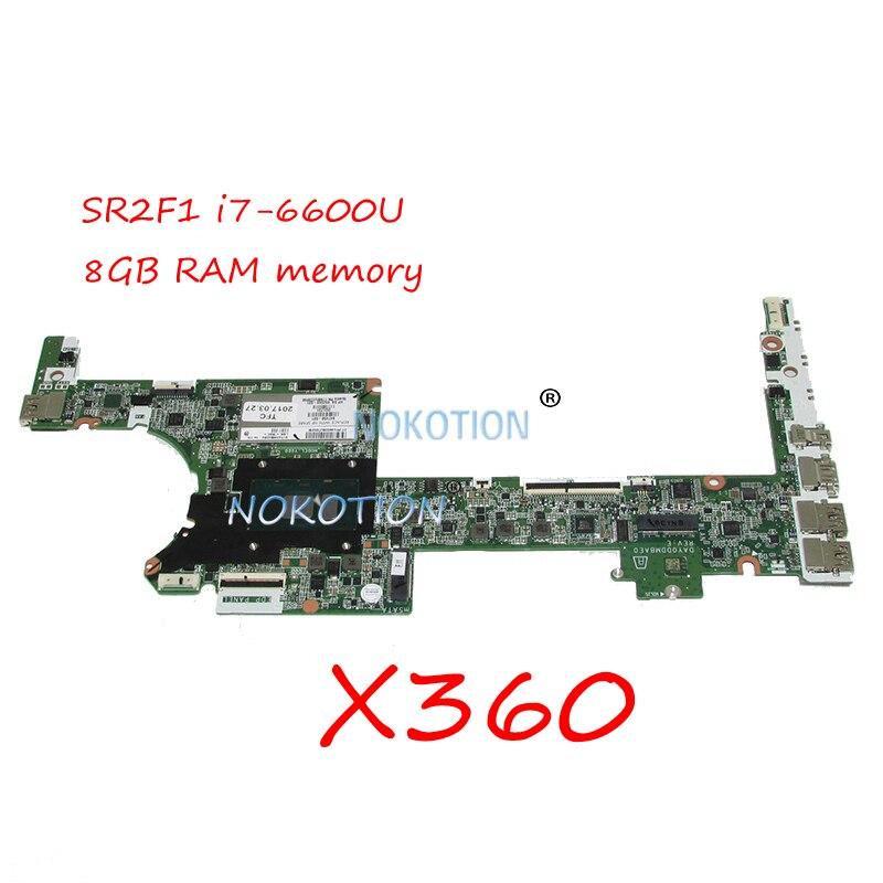 NOKOTION 847450-601 847450-001 852049-601 Pour HP Spectre X360 Mère D'ordinateur Portable DAY0DDMBAE0 SR2F1 i7-6600U 8 GB RAM à bord